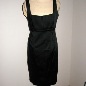 Calvin Klein little black dress satin sheath